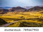 mountain valley road landscape. ... | Shutterstock . vector #789667903