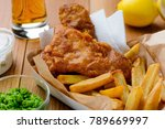 fish and chips. close up on... | Shutterstock . vector #789669997