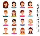 female portraits. young woman... | Shutterstock .eps vector #789678433