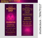 women's day banner for party... | Shutterstock .eps vector #789679117