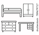 icons of furniture  bed  desk ... | Shutterstock .eps vector #789679717