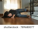 woman falling down from... | Shutterstock . vector #789680077