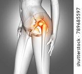 3d render of a female medical... | Shutterstock . vector #789685597