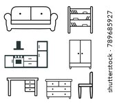icons of furniture  table ... | Shutterstock .eps vector #789685927