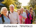 portrait of senior friends... | Shutterstock . vector #789690613