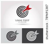 target   focus logo. symbol  ...   Shutterstock .eps vector #789691387