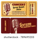 event or concert ticket... | Shutterstock .eps vector #789695203