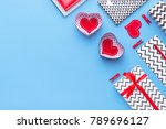 person holding a present for... | Shutterstock . vector #789696127