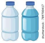 two bottles with and without... | Shutterstock .eps vector #789700417