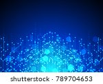 vector abstract futuristic... | Shutterstock .eps vector #789704653