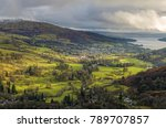 an aerial view of ambleside... | Shutterstock . vector #789707857