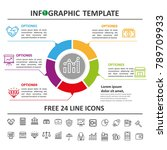 business infographic template... | Shutterstock .eps vector #789709933