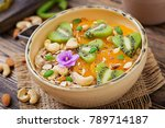 tasty and healthy oatmeal... | Shutterstock . vector #789714187