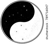 illustration of yin yang with... | Shutterstock . vector #789716047