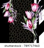 silk scarf design  fashion... | Shutterstock . vector #789717463