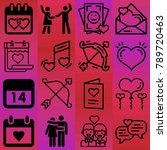 valentine's day vector icon set ... | Shutterstock .eps vector #789720463