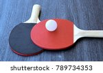 white ball and pair of table... | Shutterstock . vector #789734353