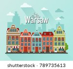 vector illustration of warsaw.... | Shutterstock .eps vector #789735613