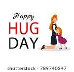hug day background for banner ...   Shutterstock .eps vector #789740347