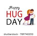 hug day background for banner ...   Shutterstock .eps vector #789740353