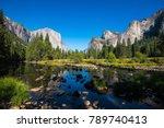 famous el capitan rock... | Shutterstock . vector #789740413