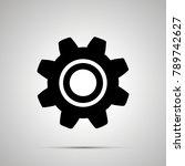 gear silhouette  simple black... | Shutterstock . vector #789742627