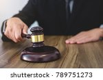 male lawyer or judge hand's... | Shutterstock . vector #789751273