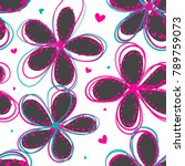 abstract seamless floral... | Shutterstock .eps vector #789759073