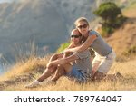 romantic couple have a date at... | Shutterstock . vector #789764047
