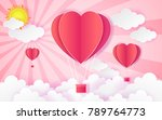 card valentine's day balloon... | Shutterstock .eps vector #789764773