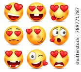 valentines day smiley. emoji...   Shutterstock .eps vector #789771787
