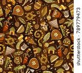 cartoon cute hand drawn african ... | Shutterstock .eps vector #789779473