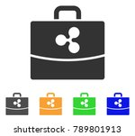 ripple accounting case icon....   Shutterstock .eps vector #789801913