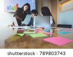 group of asian business people... | Shutterstock . vector #789803743
