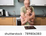 happy and smiling senior couple ...   Shutterstock . vector #789806383