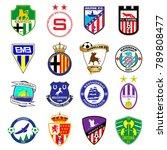 football team logo. set.... | Shutterstock .eps vector #789808477