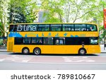 Small photo of SYDNEY, AUSTRALIA. – On January 9, 2018. - B-Line is modern yellow double deck buses which provide frequent and reliable services on Sydney's Northern Beaches and Lower North Shore.