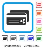 ripple bank cards icon. flat... | Shutterstock .eps vector #789813253