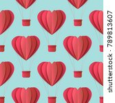 vector happy valentines day... | Shutterstock .eps vector #789813607