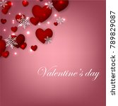 happy valentines day background ... | Shutterstock .eps vector #789829087