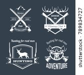 hunting club or hunt adventure... | Shutterstock .eps vector #789834727