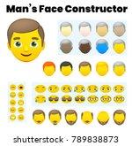 man's emoji character... | Shutterstock .eps vector #789838873