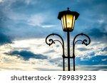 old  antique streetlamp  ... | Shutterstock . vector #789839233