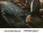 cropped shot of sound producer... | Shutterstock . vector #789841867