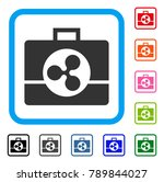 ripple business case icon. flat ...   Shutterstock .eps vector #789844027