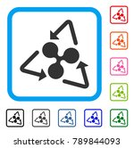 ripple recycling icon. flat... | Shutterstock .eps vector #789844093