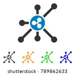ripple node icon. vector... | Shutterstock .eps vector #789862633