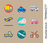 icon set about transport with... | Shutterstock .eps vector #789864277