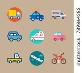 icon set about transport with... | Shutterstock .eps vector #789864283
