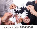 team work business concept with ... | Shutterstock . vector #789864847
